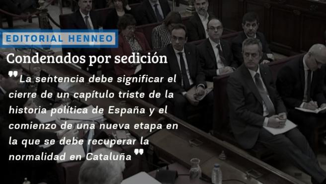 Editorial: Condenados por sedición.