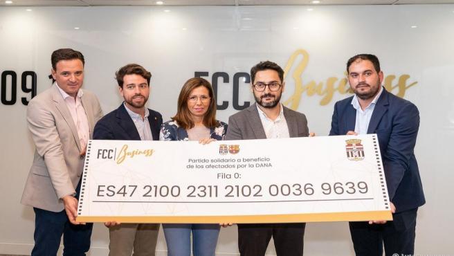 Presentación Fila 0 partido amistoso FC Cartagena y FC Barcelona