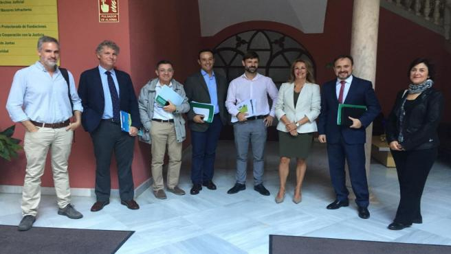Reunión de la mesa de trabajo del Plan Movilidad para Palmas Altas con respecto a la posible ubicación de la Ciudad de la Justicia