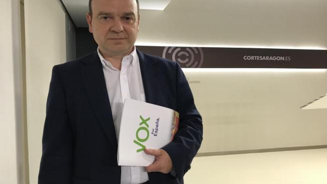 El grupo parlamentario de Vox en las Cortes de Aragón, Santiago Morón