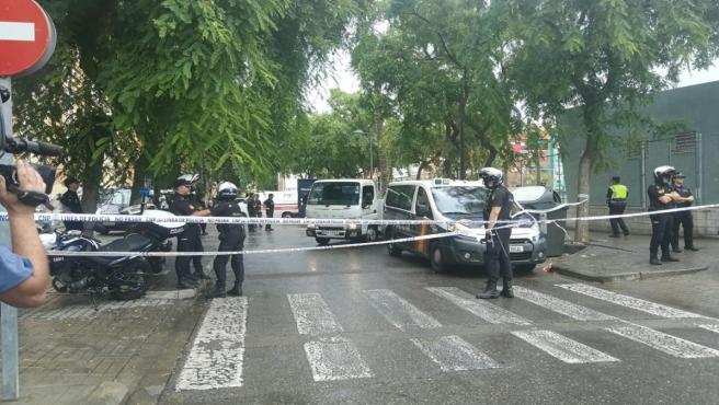 Lloc de l'atropellament a València