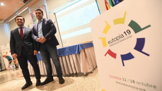García (dcha.) en el Encuentro de Negocios de Eutopía 2019