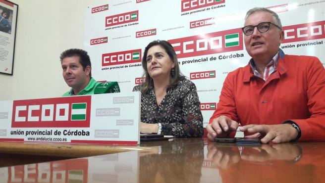 Responsables sindicales de CCOO en Córdoba