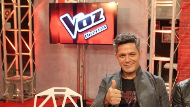 El cantante durante la final de la cuarta edición de 'La Voz' en 2016.