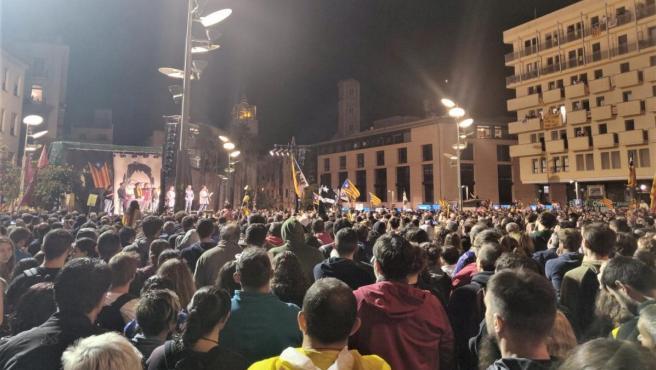 Manifestación contra la sentencia en Girona