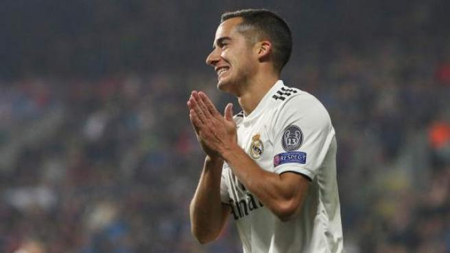 Lucas Vázquez, en un partido del Real Madrid