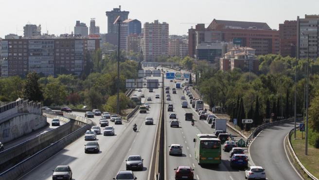 Autovía A2, a su paso por Avenida de América (Madrid).