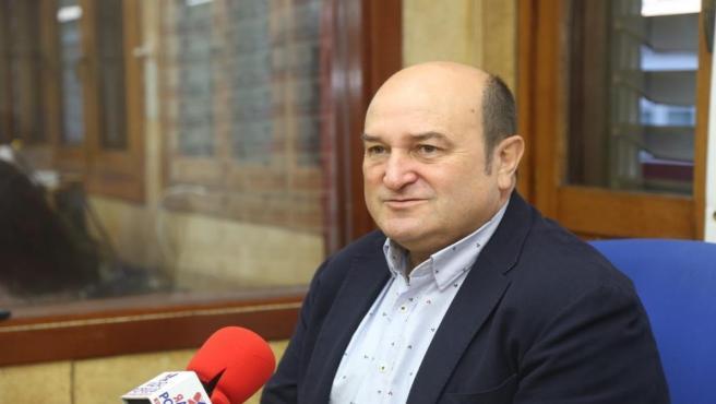 El presidente del EBB del PNV, Andoni Ortuzar, en Radio Popular