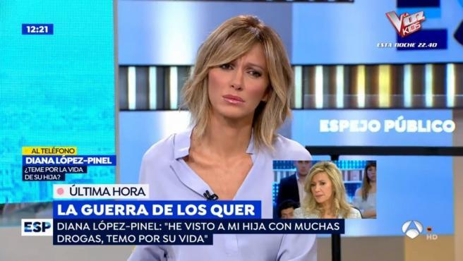 Susanna Griso ha tenido una mañana complicada en 'Espejo Público'.
