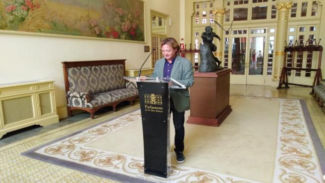 Portavoz de Vox en el Parlament balear, Jorge Campos.