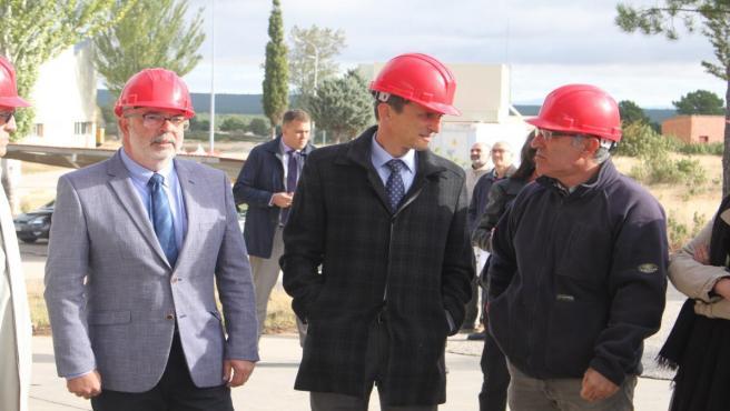 Pedro Duque durante su visita al CEDER de Lubia en Soria.