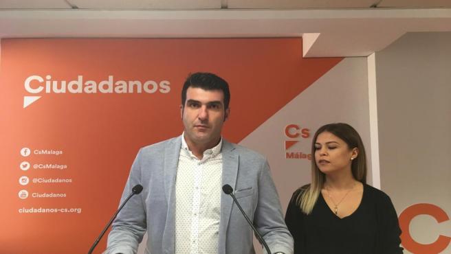 El alcalde de Guaro (Málaga), José Antonio CArabantes, (Cs) en rueda de prensa