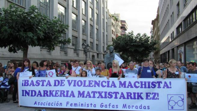 Concentración en Bilbao contra la violencia machista