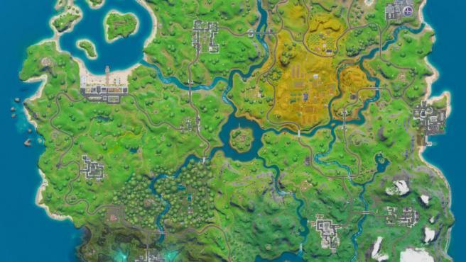 El nuevo mapa de Fornite en el capítulo 2.