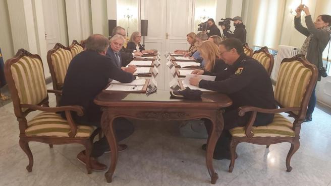 Reunión de la junta local de seguridad de Ourense
