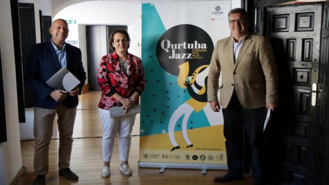 Torrent y Torrejimeno (dcha.) en la presentación de QurtubaJazz 2019