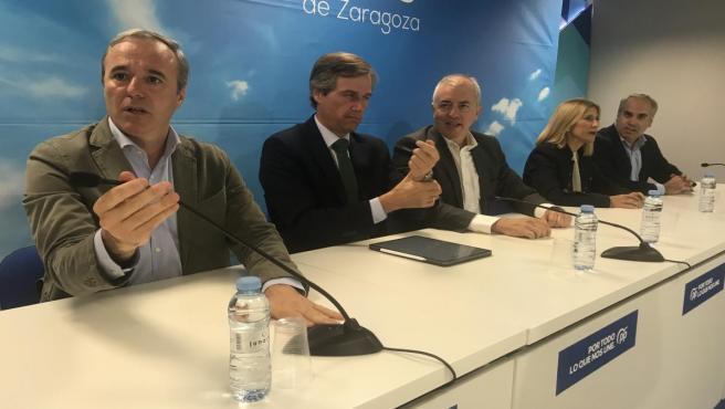 Antonio González Teruel en su visita a Zaragoza.
