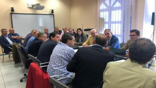 Un momento de la reunión en la GMU.