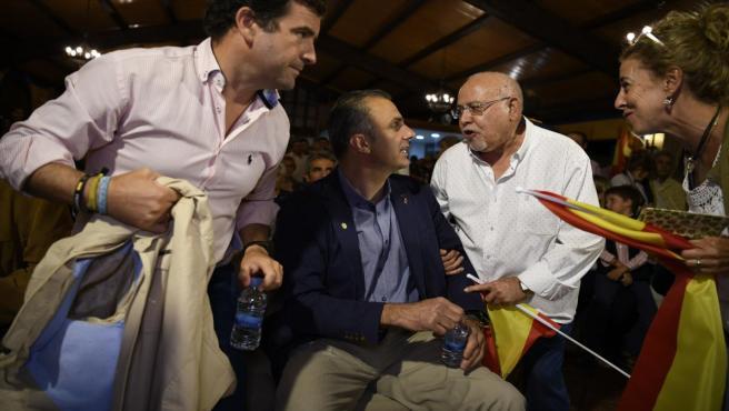 El secretario general de Vox, Javier Ortega Smith, en un acto en Ciudad Real
