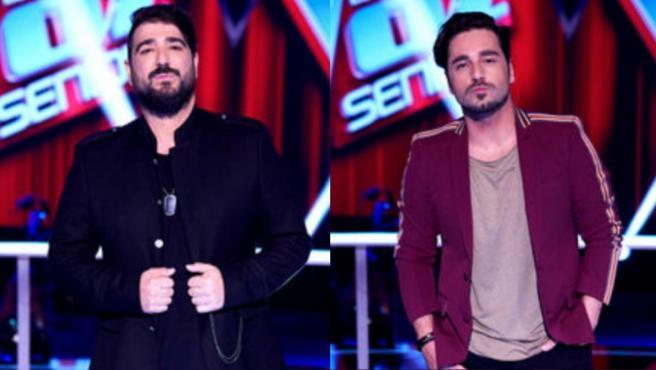 Antonio Orozco (i) y David Bustamante (d), los nuevos 'coaches' de 'La Voz Senior 2' (Antena 3).