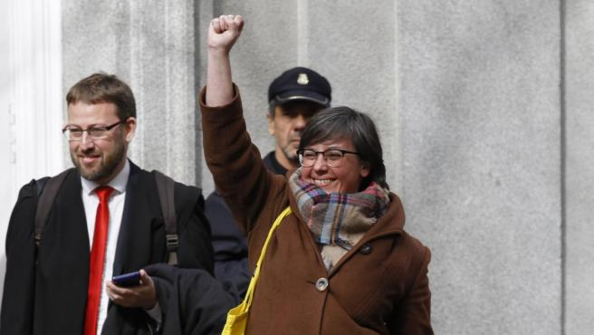 La exdiputada de la CUP Mireia Boya es una de las personas que serán juzgadas.