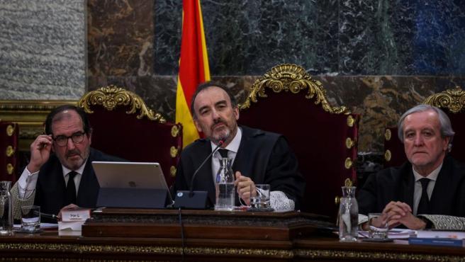 El presidente de la Sala de lo Penal del Supremo, Manuel Marchena, durante el juicio contra el procés.