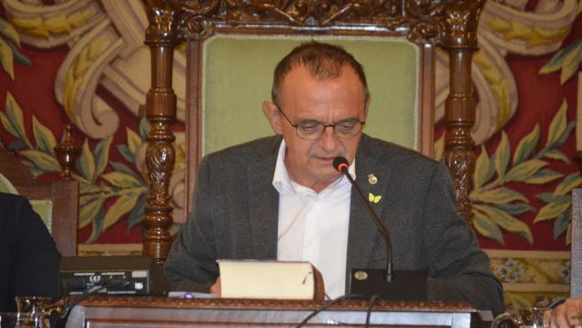 El alcalde de Lleida, Miquel Pueyo (ERC).
