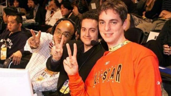 Andrés Montes, Antoni Daimiel y Pau Gasol, en una foto de archivo.
