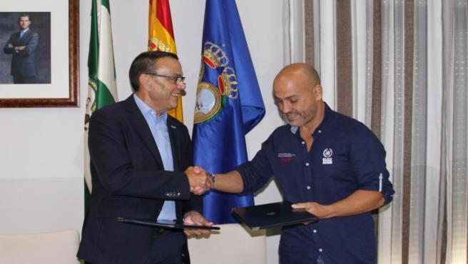 Acuerdo entre la Diputación de Huelva y el BUSF.