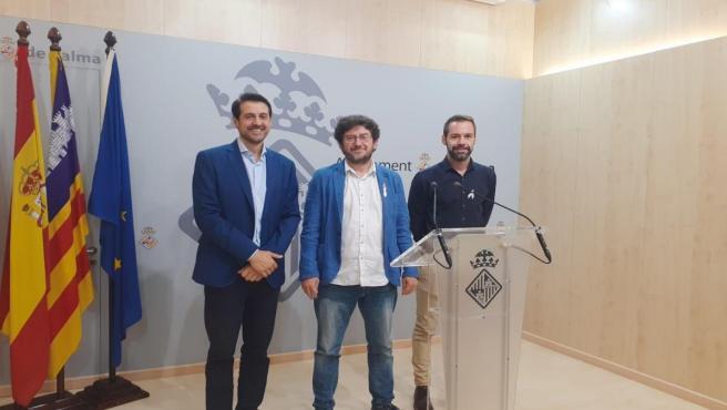 Alberto Jarabo en la rueda de prensa posterior a la Junta de Gobierno del Ayuntamiento de Palma