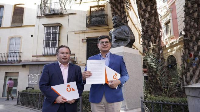El portavoz de Ciudadanos (Cs) en el Ayuntamiento de Sevilla, Álvaro Pimentel, este miércoles