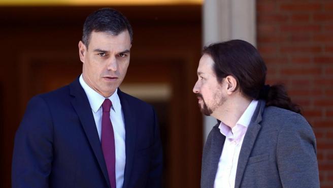 Sánchez e Iglesias, este miércoles en La Moncloa.
