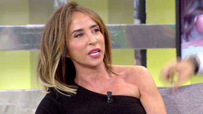 María Patiño, en el plató de 'Sálvame' (Telecinco).