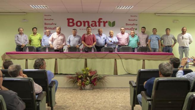 Nueva junta directiva de la plataforma de regantes del Condado de Huelva.