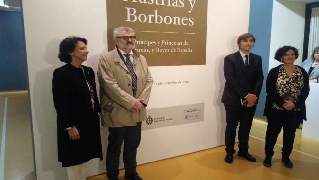 Teresa Sanjurjo, Miguel Falomir, Alfonso Palacio y Berta Piñán.