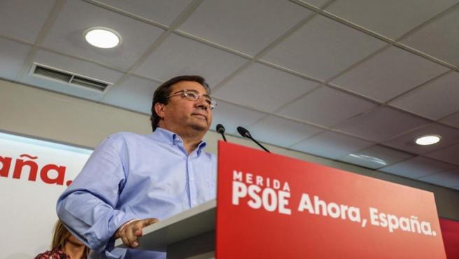 Vara en un acto público del PSOE en Mérida