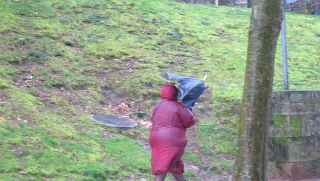 Temporal en Galicia, Santiago, viento, lluvia, mal tiempo