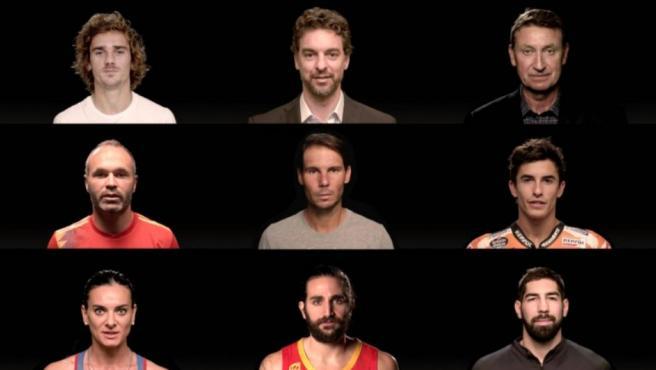 Pau Gasol, Marc Márquez, Ricky Rubio y, por su puesto, Rafa Nadal, ponen cara a la nueva Copa Davis.