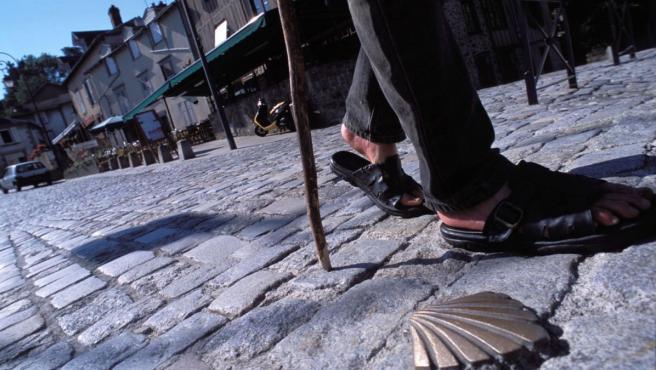 Una imagen de un peregrino en el Camino de Santiago.