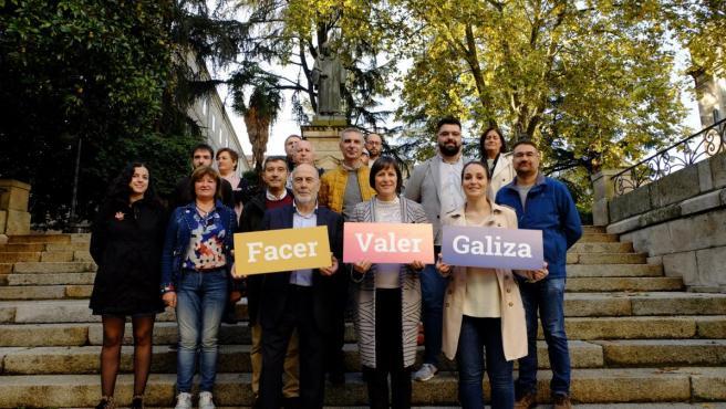 Ana Pontón con los integrantes de la candidatura del BNG a las elecciones generales por Ourense