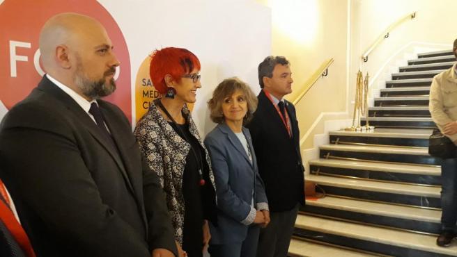 La ministra de Sanidad, María Luisa Carcedo, en Pamplona.