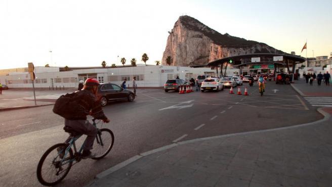 Vista de la entrada a Gibraltar.