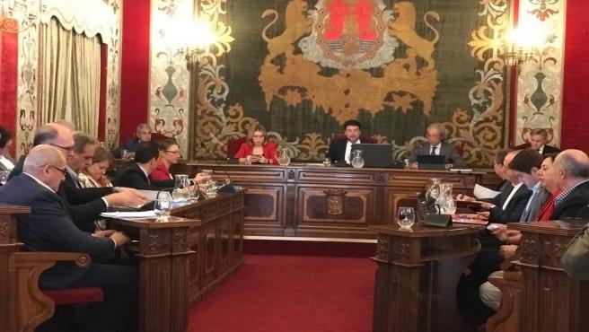 Pleno del Ayuntamiento de Alicante, este jueves.