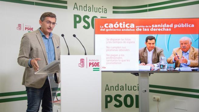 El secretario general del PSOE de Almería y parlamentario, José Luis Sánchez Teruel