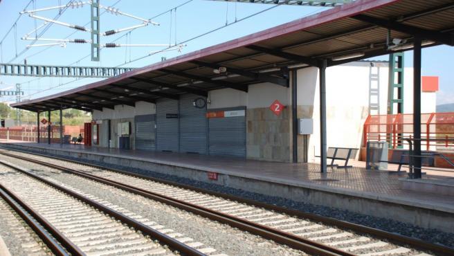 Una estación de tren.