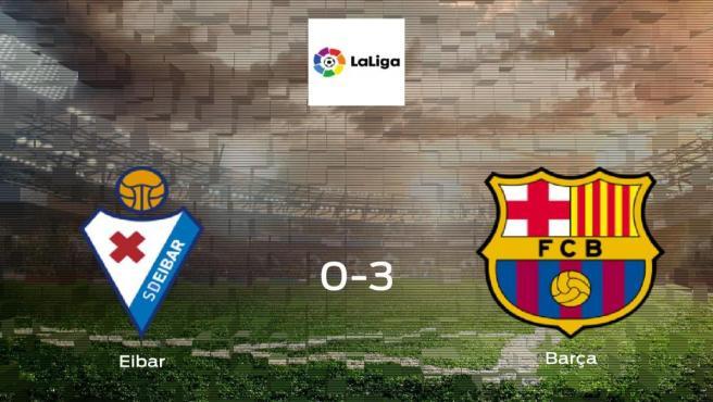 El Barcelona logra una goleada en el estadio del Eibar (0-3)