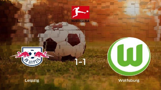 El RB Leipzig y el Wolfsburg suman un punto tras empatar a uno