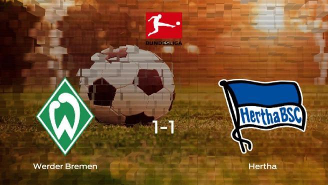El Werder Bremen y el Hertha BSC suman un punto tras empatar a uno