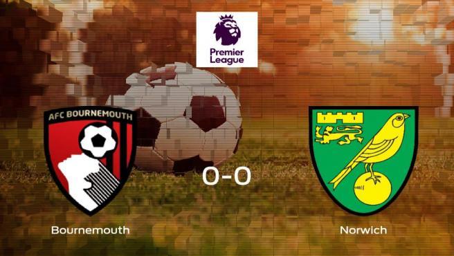 El Norwich City logra un empate a cero ante el Bournemouth