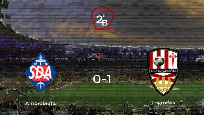 El Logroñés se lleva tres puntos después de ganar 0-1 al Amorebieta